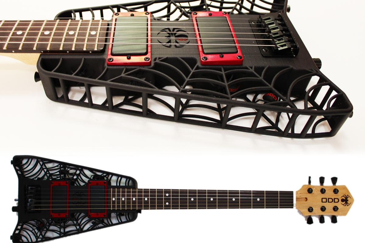 Olaf Diegel has created a range of guitars with 3D printed bodies, which will be made available in June