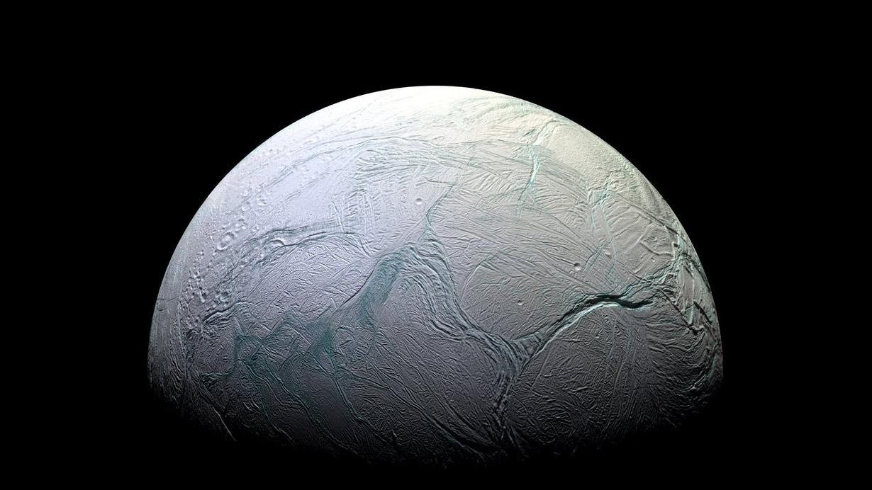 Enceladus as imaged by the Cassini spacecraft