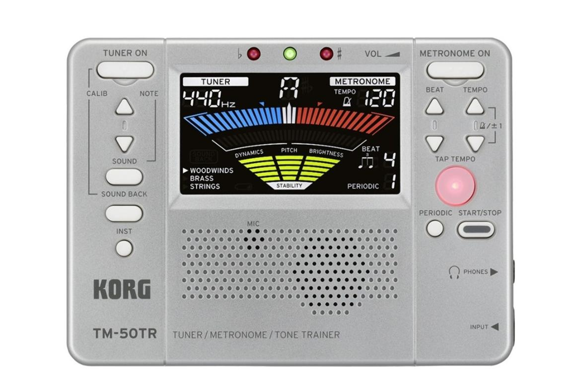 The TM-50TR combines tuner, metronome and tone trainer