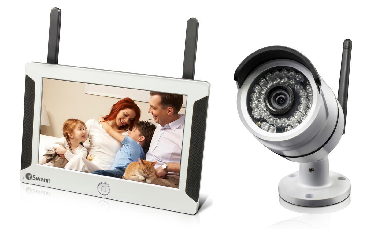 The SwannSecure system consists of a seven-inch viewing monitor, a 720p camera and iOS and Android application