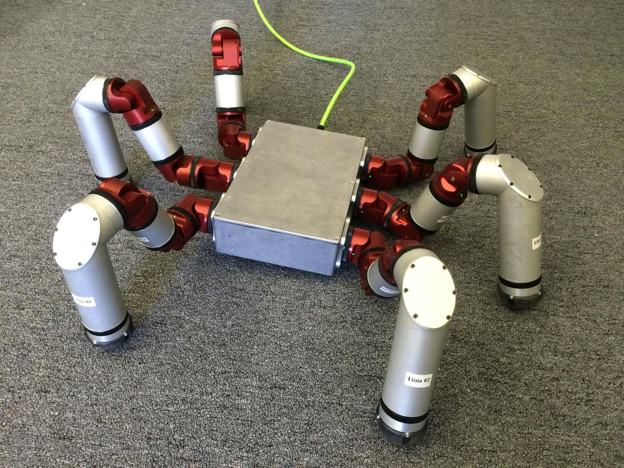 The Snake Monster robot's legs feature actuators that gauge and control the force it exerts, and the forces exerted upon it to help protect from high impacts
