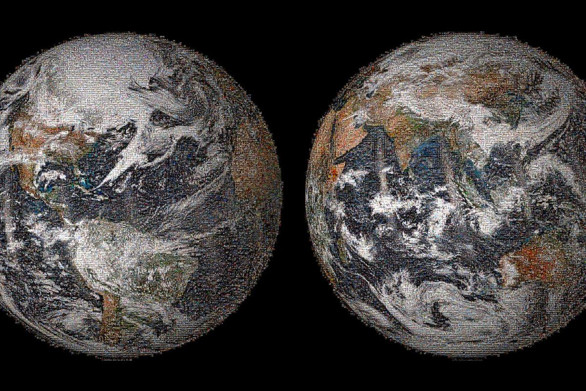 The 3.2 gigapixel Global Selfie photomosaic that was made from 36,422 individual images (Image: NASA)