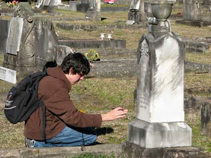 Scientists are hopeful that the weathering evident on marble gravestones can provide clues to climate change