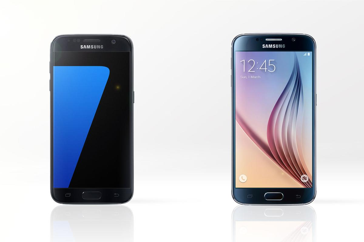 To upgrade or not? Gizmag compares the features and specs of the new Samsung Galaxy S7 (left) and last year's Galaxy S6