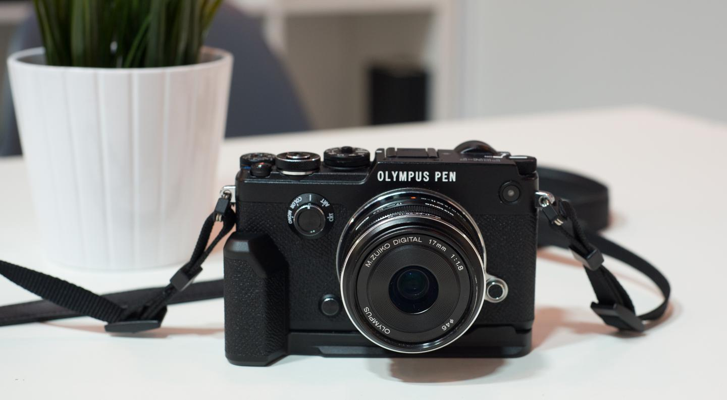 The Olympus PEN-F is a stylish mirrorless camera