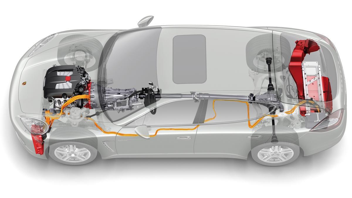 The new four-seat Panamera S Hybrid