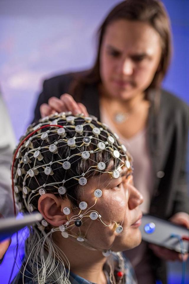 Electrode netting and custom-made technology allows the Frohlich lab at the UNC School of Medicine to stimulate specific parts of the brain