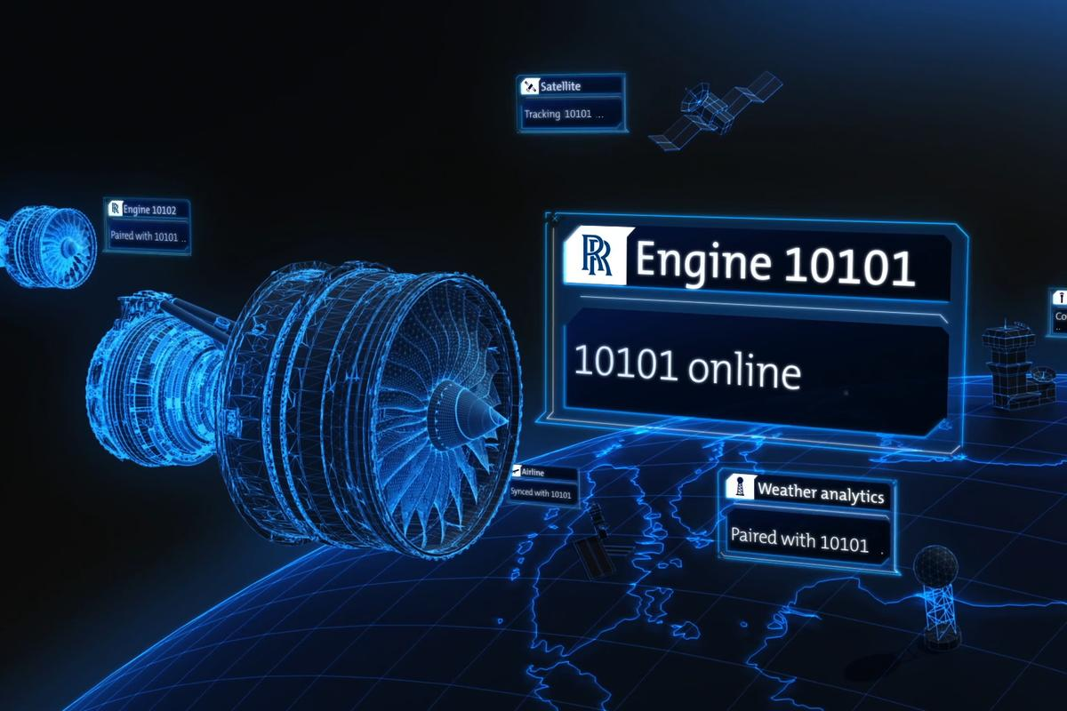 The IntelligentEngine vision would see aircraft engines communicating with one another
