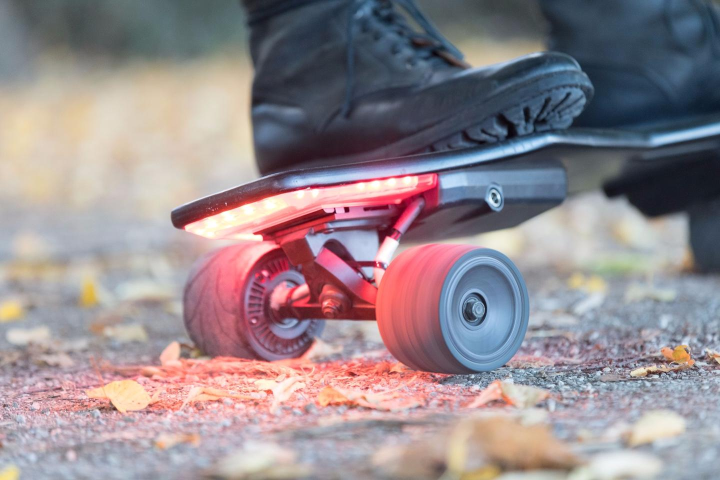 The StarkBoard's sensors use body movement for ride control