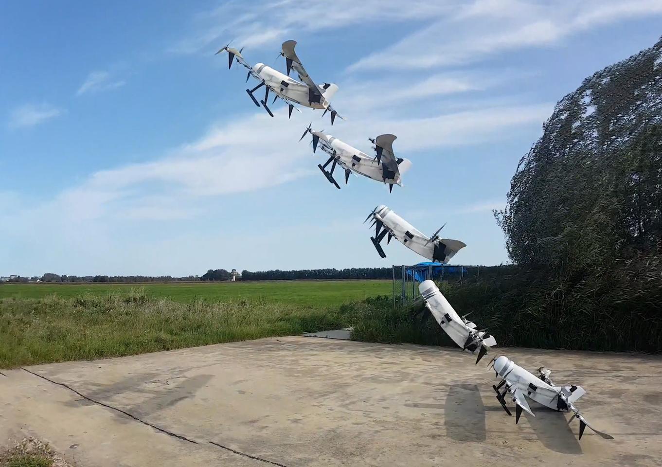 پرواز 3.5 ساعته هواپیماهای بدون سرنشین نسل جدید VTOL با انرژی هیدروژن هلی کوپتر پهپاد