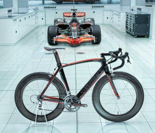 Specialized bikes has teamed up with McLaren Automotive to create the S-Works McLaren Venge road bike