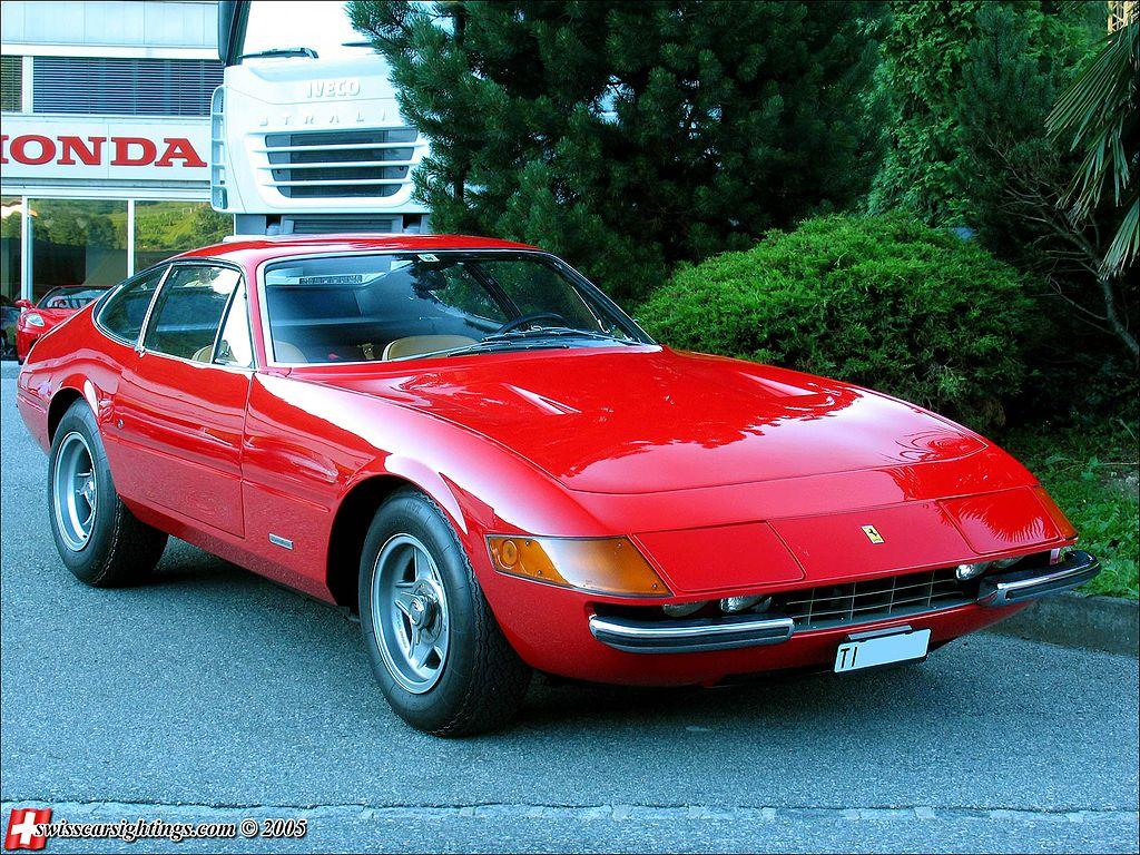 A rare Ferrari Daytona, similar to the one pictured above, was a highlight atauctions held tocelebratethe 70th anniversary of the Ferrari this year