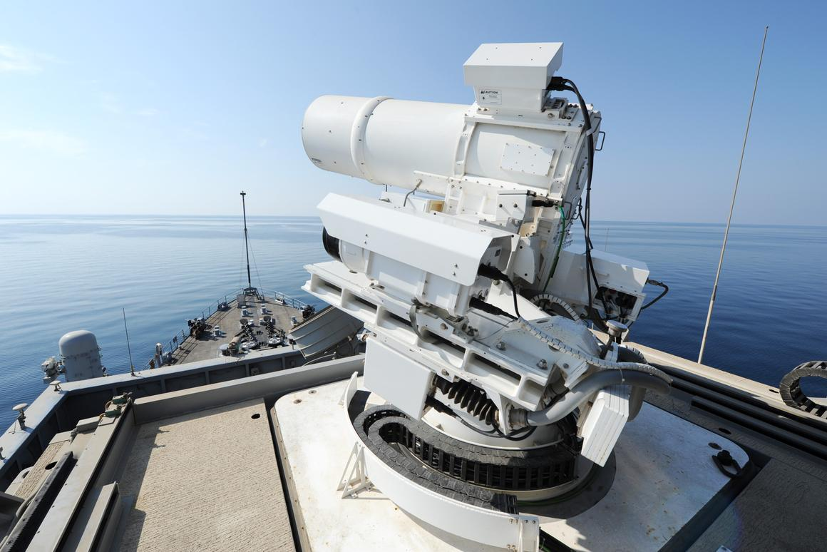 The deployment of the laser weapon is a first for the US Navy (Photo: US Navy/John F. Williams)