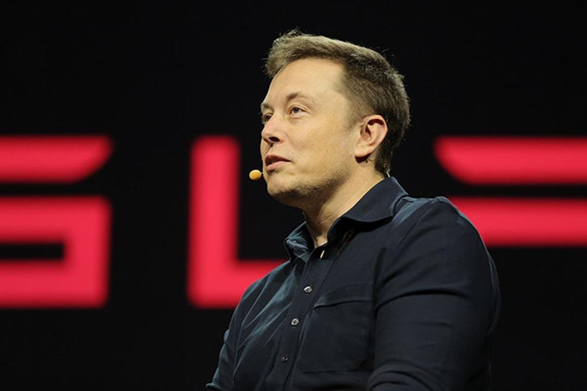 Elon Musk speaking at an Nvidia conference.