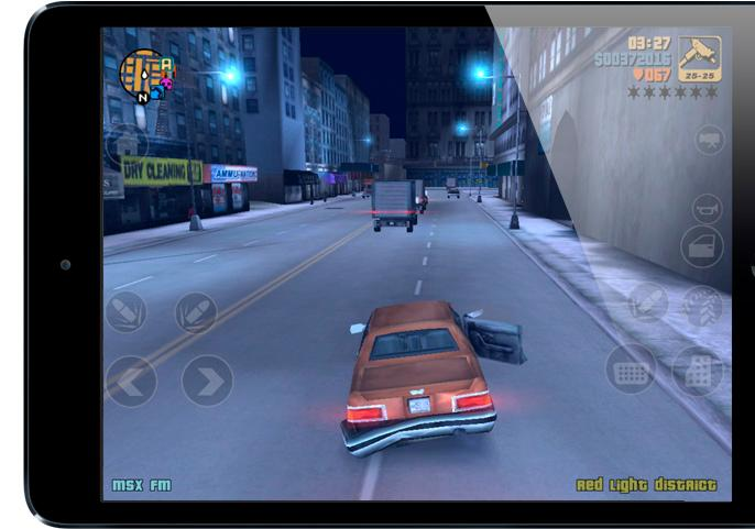 The PC and console classic Grand Theft Auto III is also an iOS classic