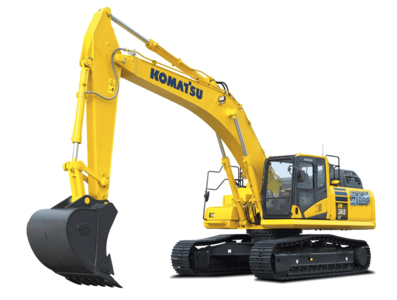 The Komatsu Hybrid offers 20 percent fuel savings over its conventional counterpart