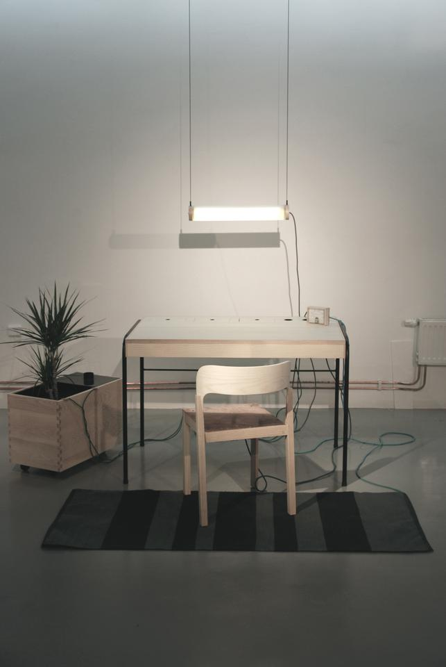 The prototype was created by Swedish designer Eddi Törnberg as part of his final year thesis at Beckmans College of Design, in Stockholm