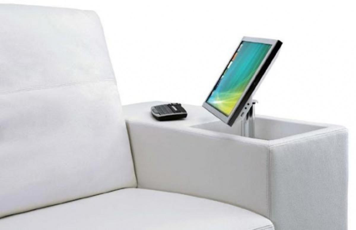 Access to technology is just an armrest away when you have the Athena sofa