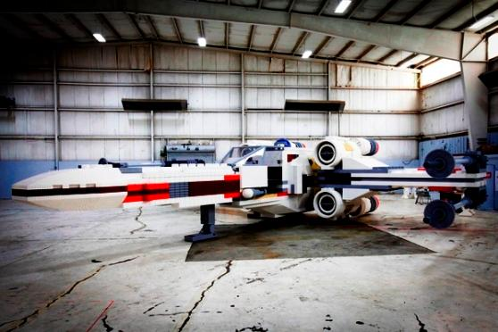 The 1:1 scale Lego X-Wing is the world's largest Lego model