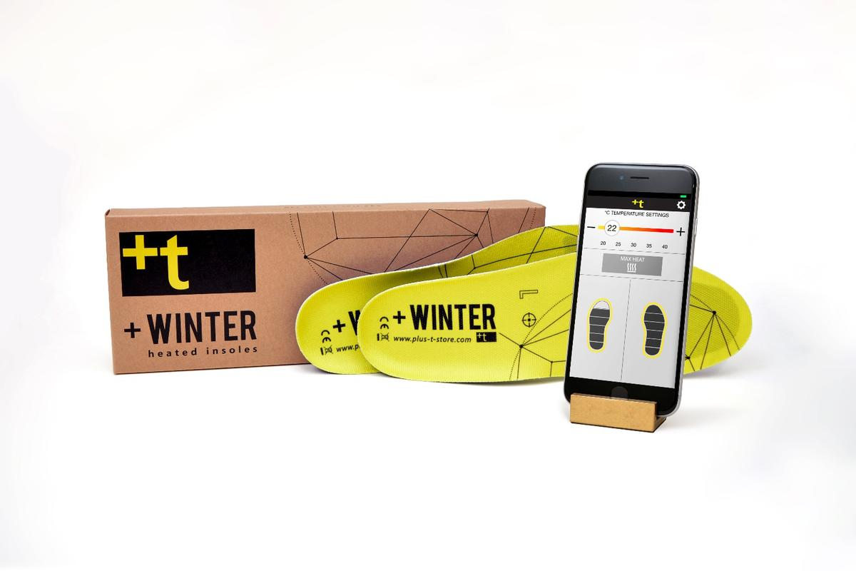 +Winter heated insoles are activated and controlled by an app