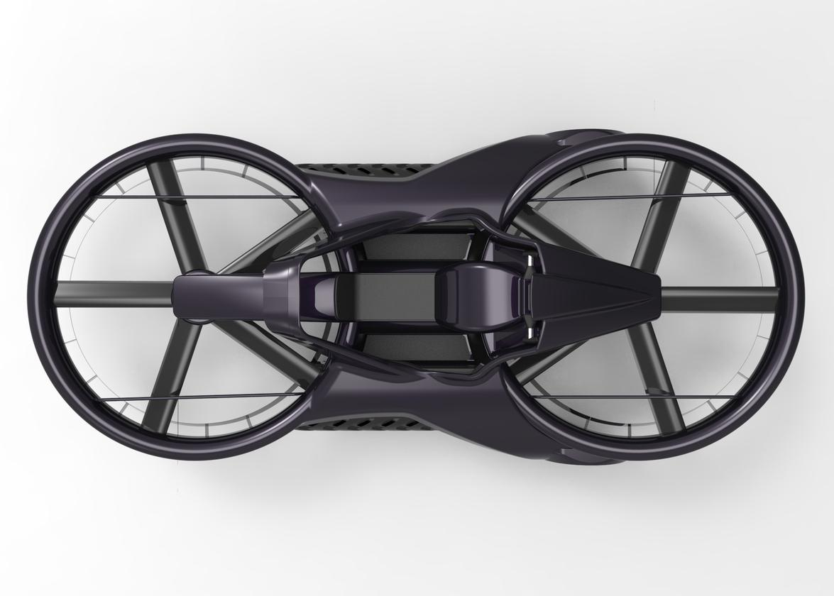 The Aero-X hoverbike is around 4.5 m (14.8 ft) in length and 2.1 m (6.8 ft) in width (Photo: Aerofex)