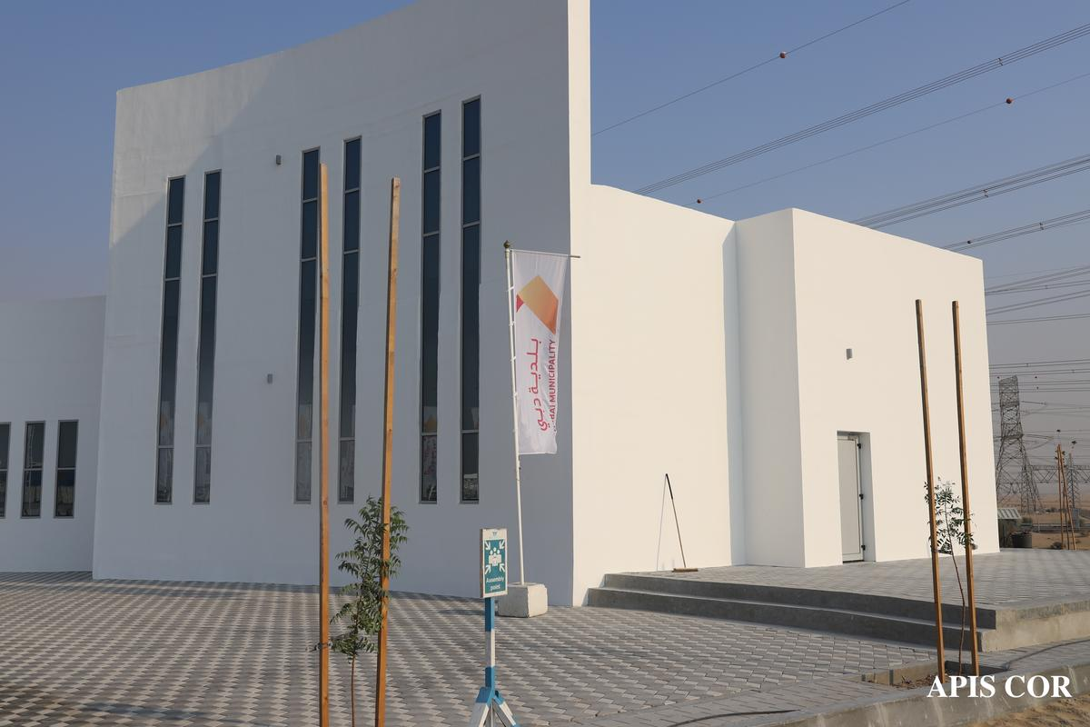 The administrative building is the largest 3D-printed project we've seen to date
