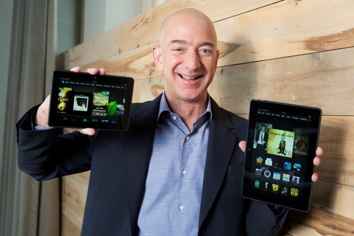 Amazon.com Founder and CEO Jeff Bezos introduces the new Kindle Fire HDX family
