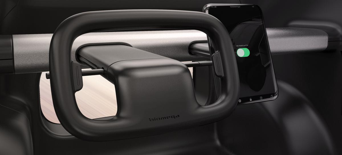 """The Sin electric CUV concept rocks a rectangular steering """"wheel"""" and tablet-like interface"""