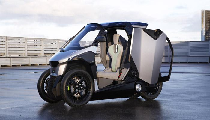 Peugeot's PHEV tilting scooter is based on the architecture of a tricycle