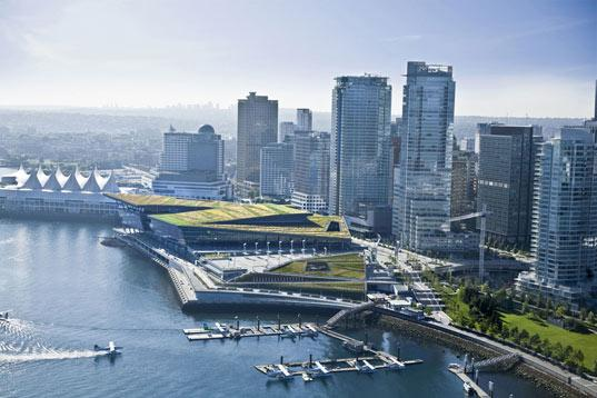 The Vancouver Convention and Exhibition Center is a shining example of sustainability