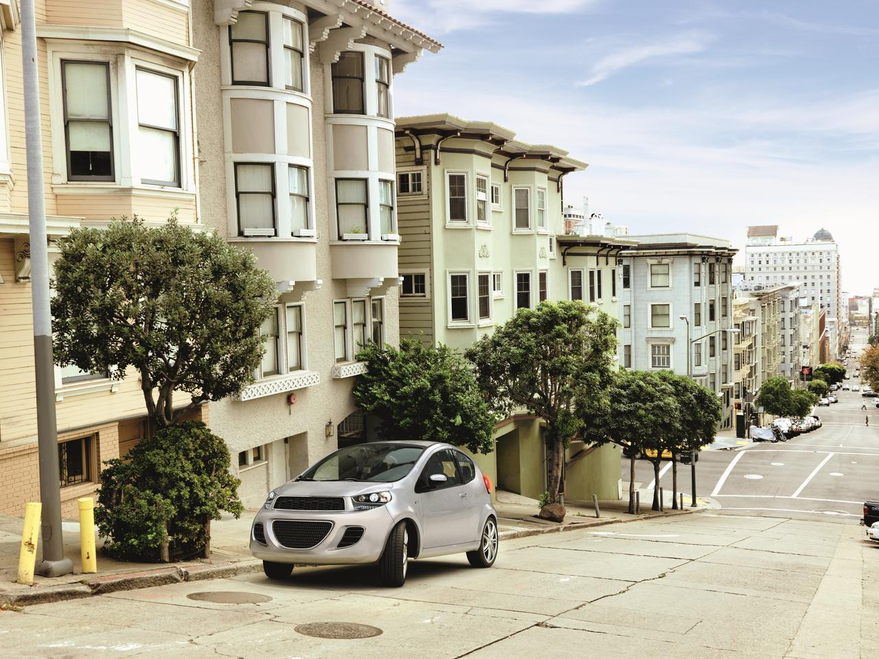 The electric parking brake can assist in hill parking