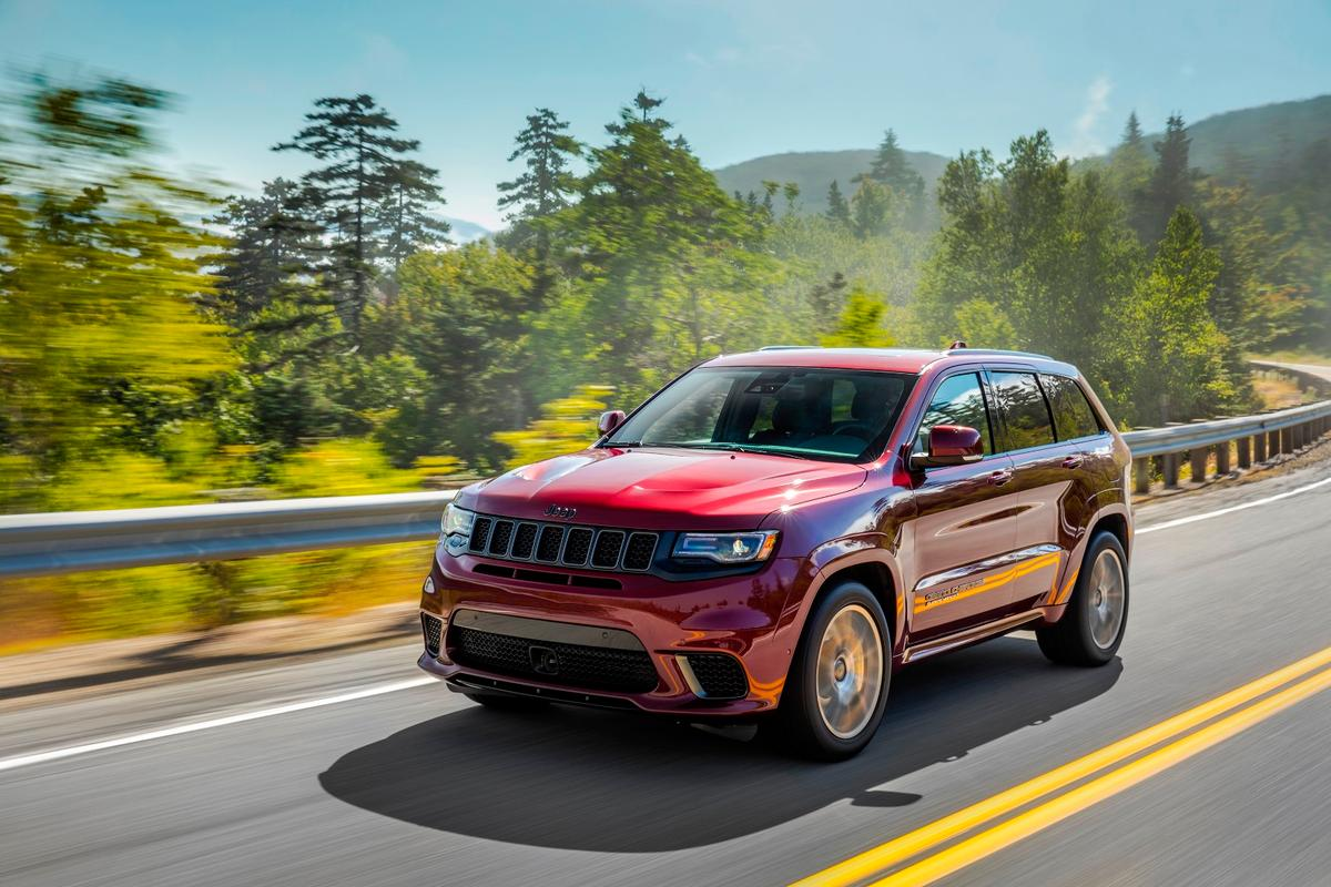 The over-the-top nature of the Grand Cherokee Trackhawk is its greatest selling point