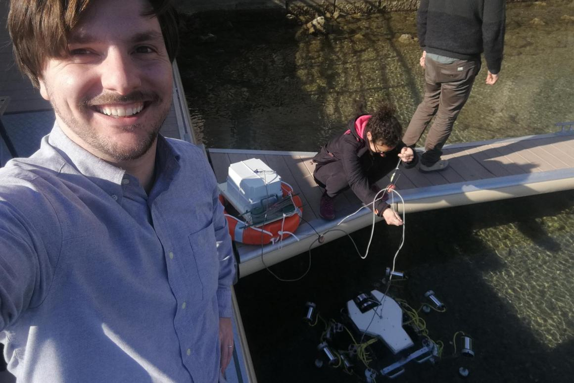 The first dive of the SILVER 2 plastic-hunting robot took place on World Ocean Day nearLivorno in Italy