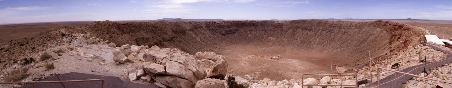 Panoramic view of Meteor Crater
