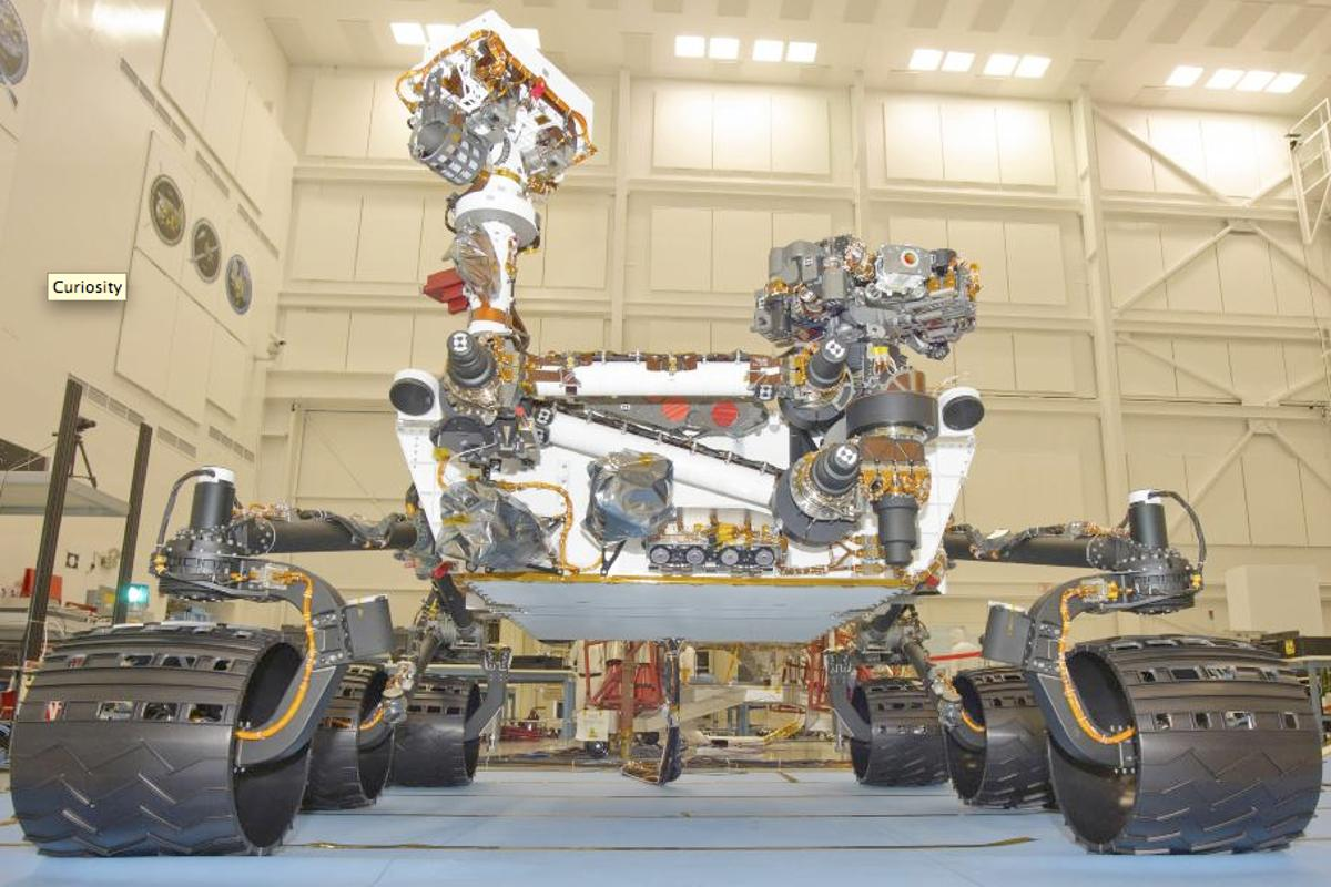 Front view of Curiosity Mars rover(Image: NASA)
