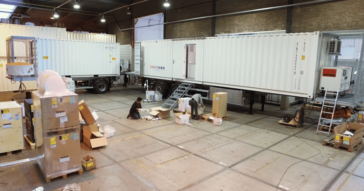Doctors Without Borders' innovative mobile hospital on a trailer