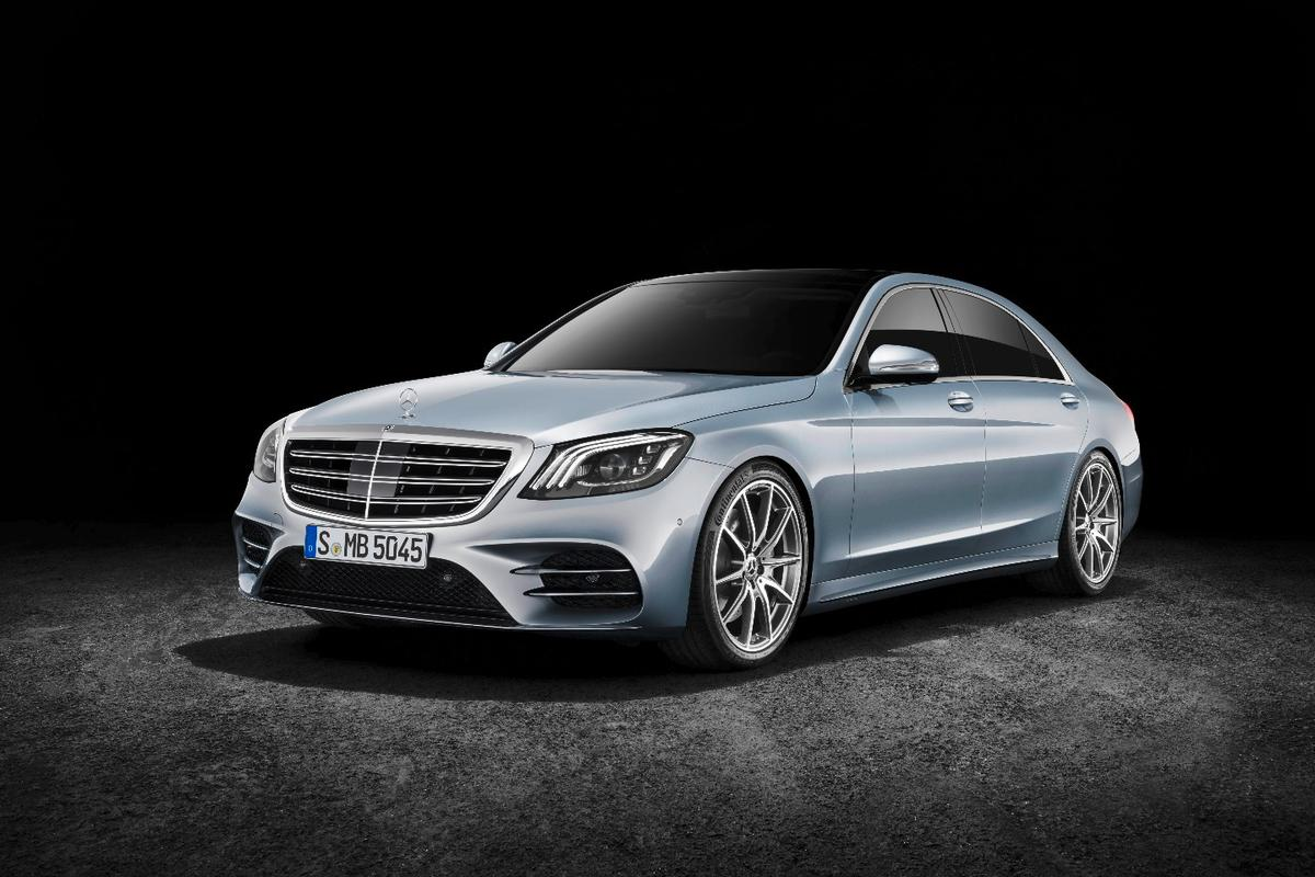 The new MercedesS-Class, launched in Shanghai