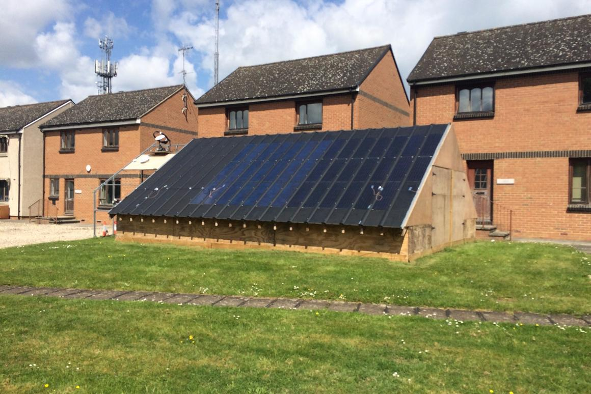 The prototype hybrid solar system incorporates PV panels and flat heat pipes