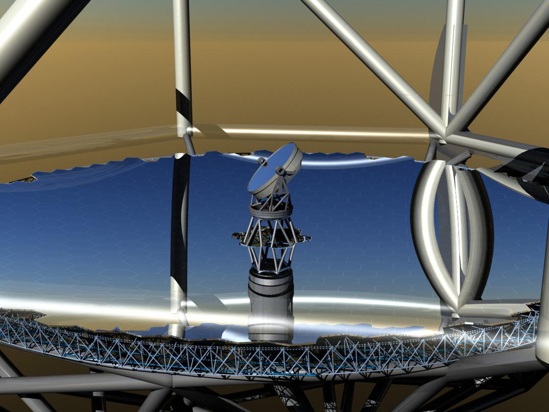 An artist's interpretation of the TMT mirrors (Image: Courtesy TMT Observatory Corporation)