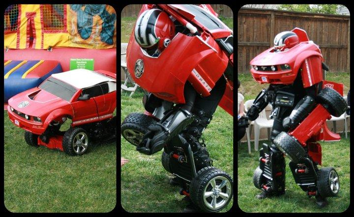 "Drive Suits are life-size Transformers-inspired costumes, with motorized wheels that allow them to move when in ""vehicle"" mode"