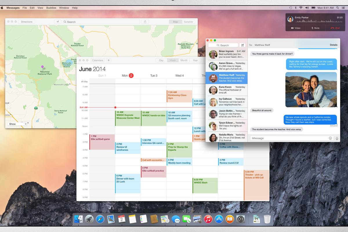 At Apple's WWDC, the company revealed the latest version of its Mac operating system, OS X Yosemite