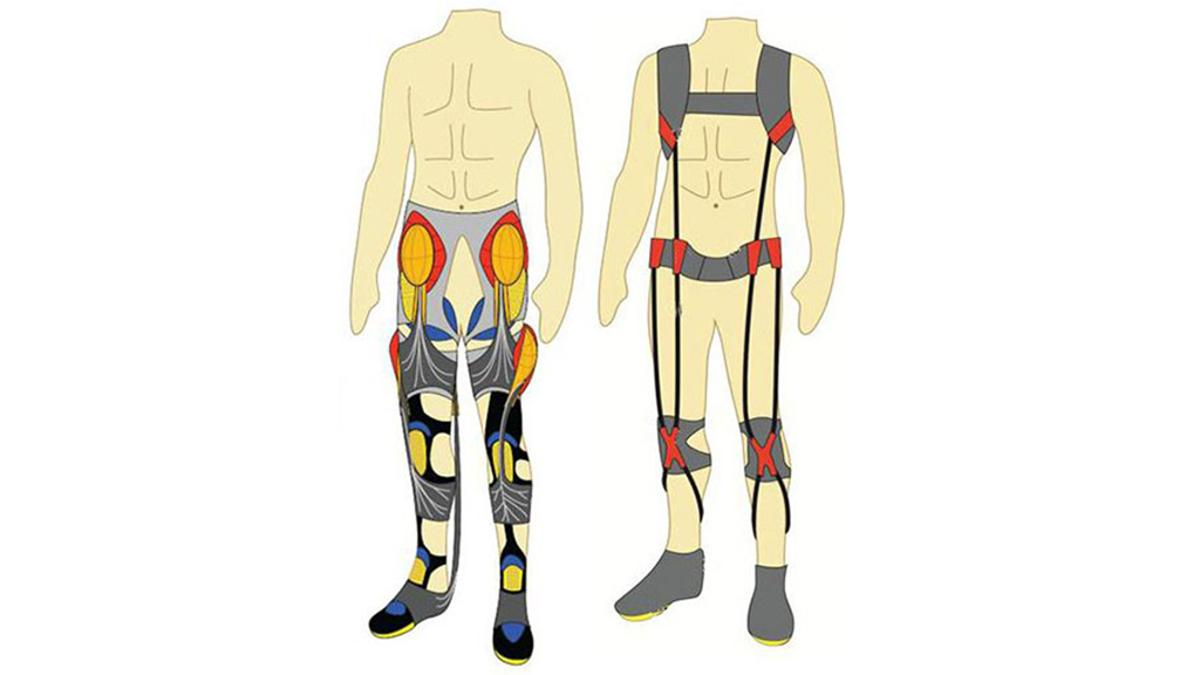 The smart suit is made up of a series of soft components designed to help improve a soldier's endurance (Image: Wyss Institute)