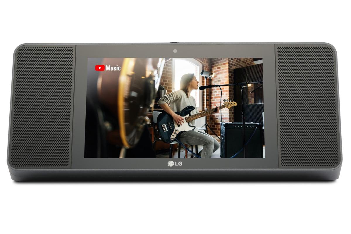 The XBoom AI ThinQ model WK9 rocks 20 W stereo speakers, an 8-inch touch display and a 5 MP front-facing webcam