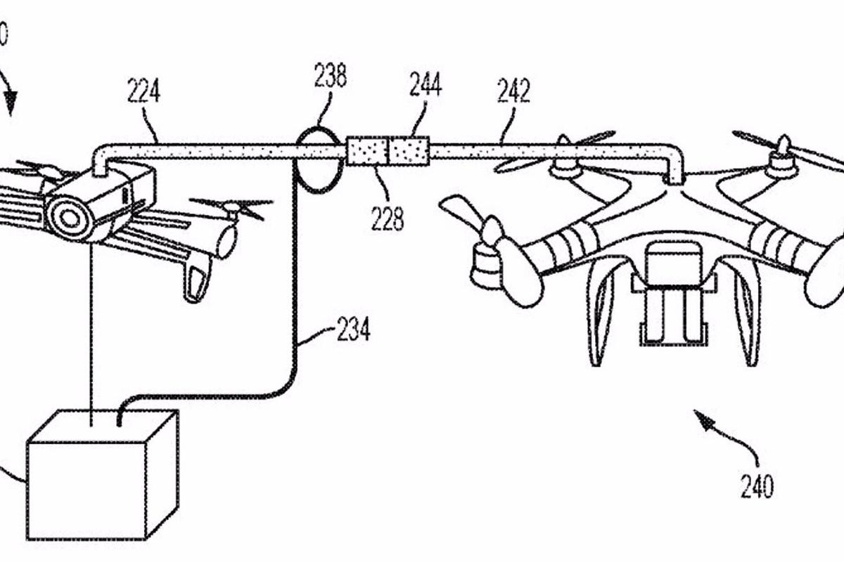 IBM's patent details howpackages could be transferred between drones in mid air
