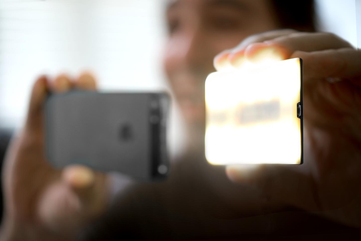 Nova provides more lighting options than the iPhone's built-in flash