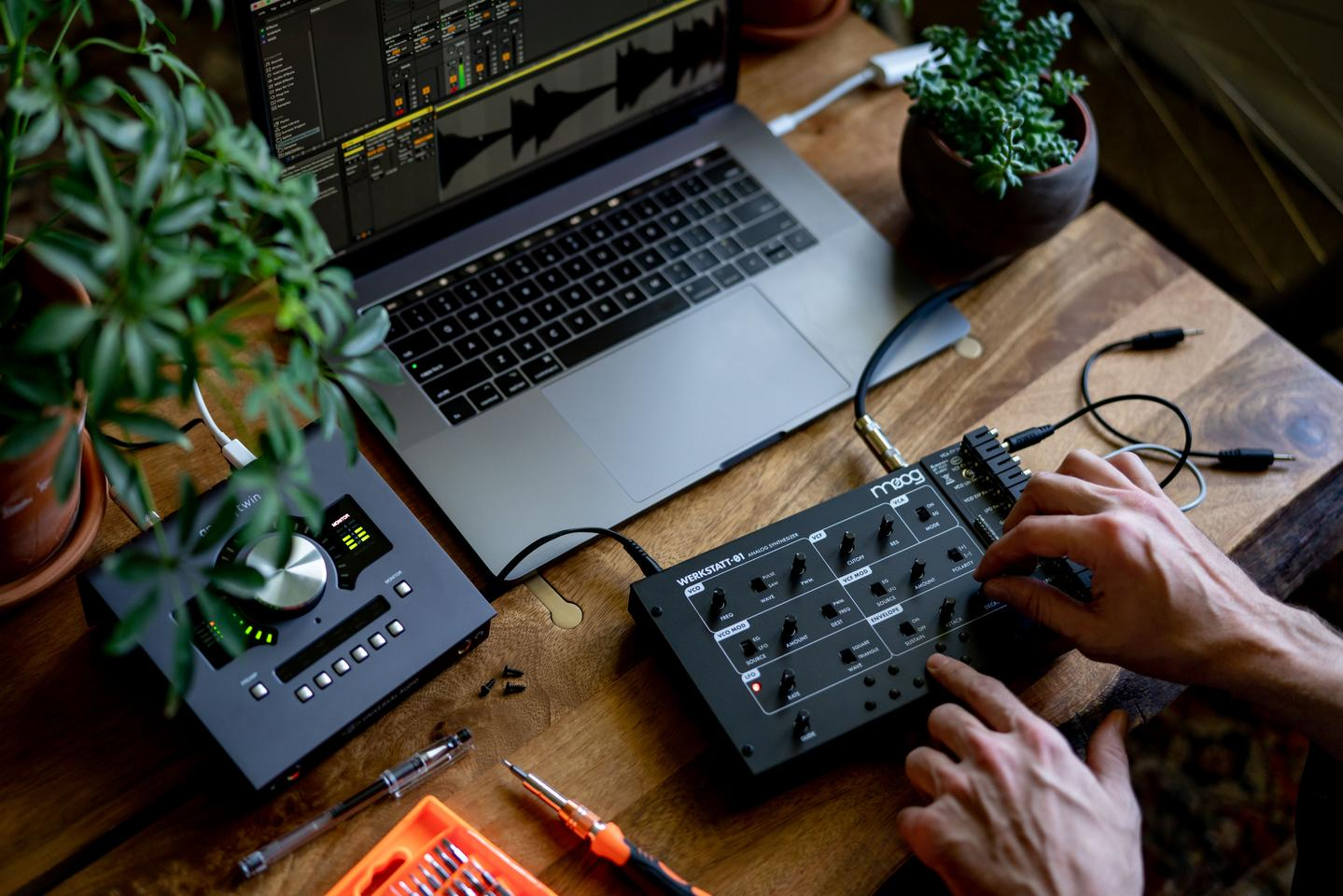 The Werkstatt-01's all-analog circuitry delivers the classic and futuristic synthesized sounds that Moog is known for