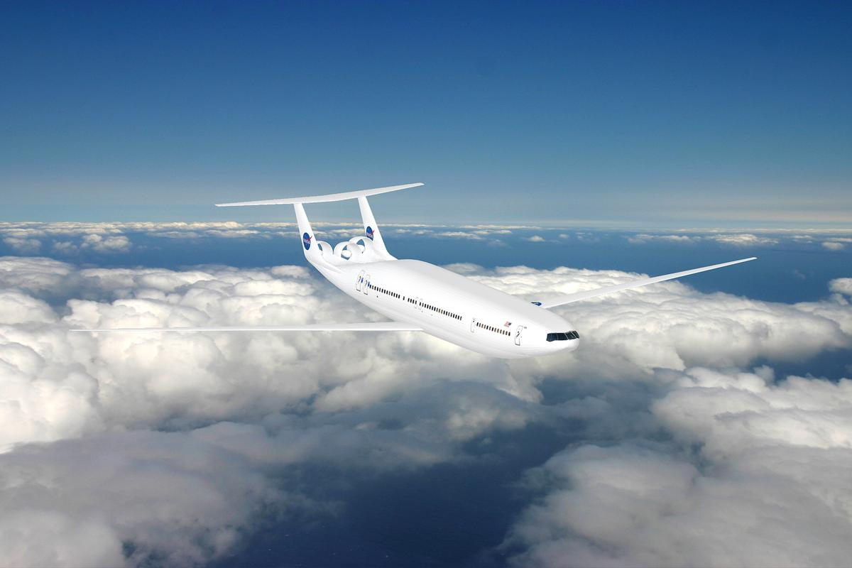 The D double bubble aircraft design promises a 70 percent improvement in fuel economy (Image: MIT/Aurora Flight )