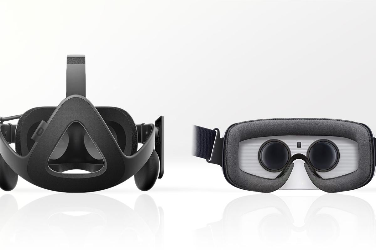 Gizmag compares the features and specs of the consumer Oculus Rift (left) and Gear VR
