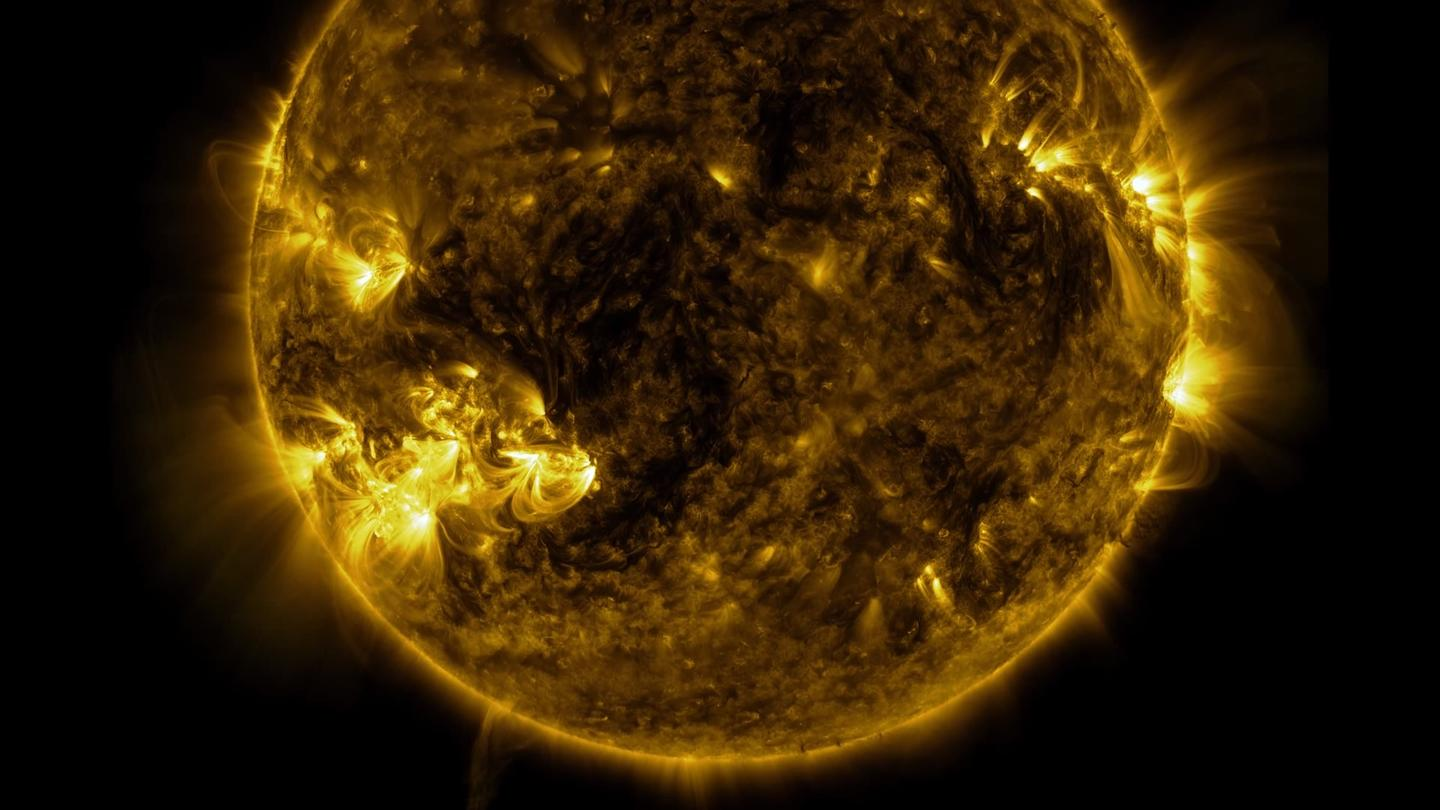 The ultra high resolution video was created from data harvested by the Solar Dynamics Observatory