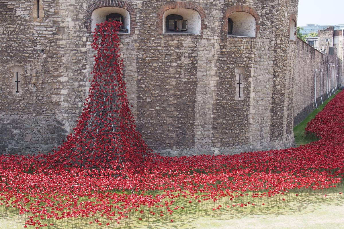 Blood swept lands and seas of red, at the Tower of London (Photo: Adam Williams/Gizmag)